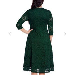 Lookbook Store plus size green lace dress size 26W